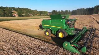 Video New John Deere S790i with draper 640D 10 m 70 in France MP3, 3GP, MP4, WEBM, AVI, FLV November 2017