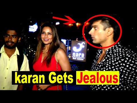 Karan Singh Grover Gets JEALOUS While Fan Taking Selfie With Bipasha Spotted At Yauatcha For Dinner