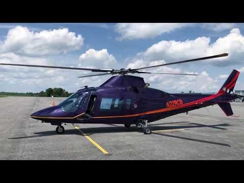 Agusta 109C ground idling at KDMW...