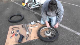 8. Rear Tire Change on a 2010 SYM Symba Part 2 of 2