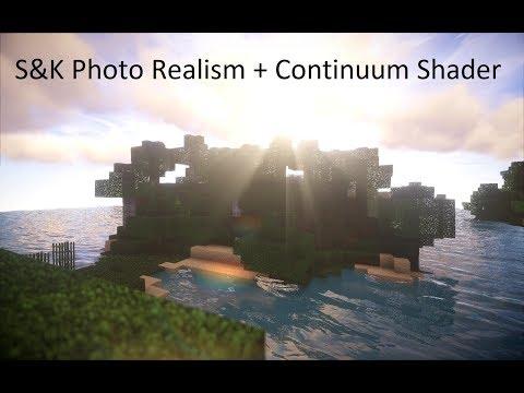 Minecraft   S&K Photo Realism + Continuum Shader