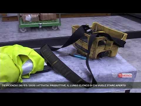 TG VICENZA | 30/03/2020 | ATTIVITA' PRODUTTIVE, IL LUNGO ELENCO DI CHI VUOLE STARE APERTO