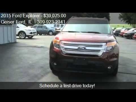 2015 Ford Explorer XLT 4x2 4dr SUV for sale in Roanoke, IL 6