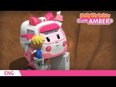 🚨 Daily life Safety with AMBER | EP 05 - 08 | Robocar POLI | Kids animation