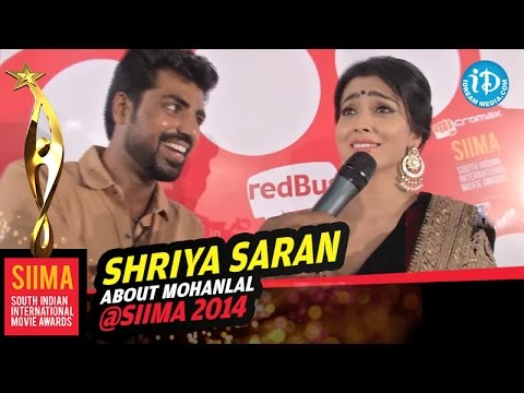 Shriya Saran about Mohanlal @ SIIMA 2014, Malaysia