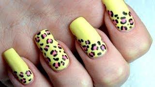 Summer Matte Leopard Print Easy Nail Art Tutorial - YouTube
