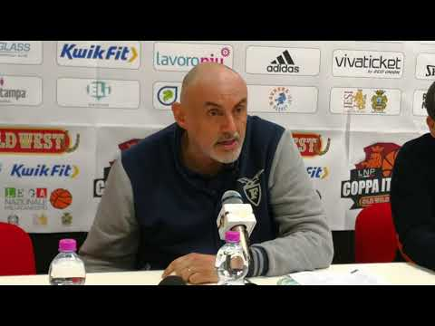 Fortitudo-Trapani, la conferenza stampa dei due coach