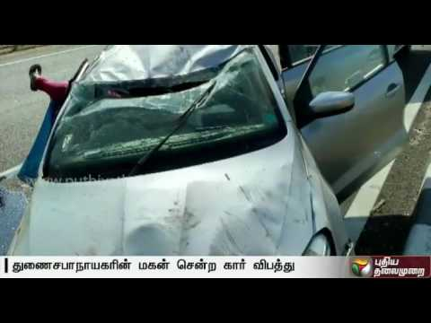 Pollachi-V-Jayaramans-son-meets-with-a-car-accident