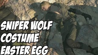 Quiet in Sniper Wolf Costume Easter Egg Metal Gear Solid V: The Phantom Pain 5