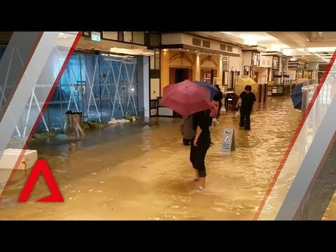 Typhoon Mangkhut causes floods in Hong Kong