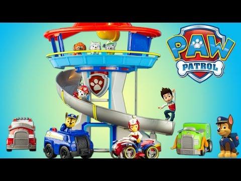 Pat Patrouille Quartier Général Paw Patrol Lookout Playset Toy Review Jouet Patrulla de Chachorros