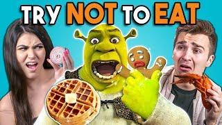 Video Try Not To Eat - Shrek Foods | People vs. Food MP3, 3GP, MP4, WEBM, AVI, FLV Agustus 2019