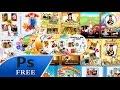 11 PSD Graduación Para Niños plantillas para photoshop
