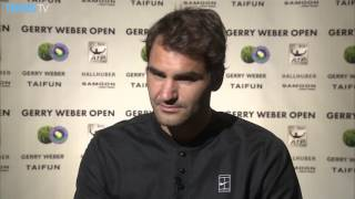 Top seed Roger Federer advances to the Gerry Weber Open quarter-finals for the 14th successive time after beating Malek Jaziri. Watch live tennis at tennistv...
