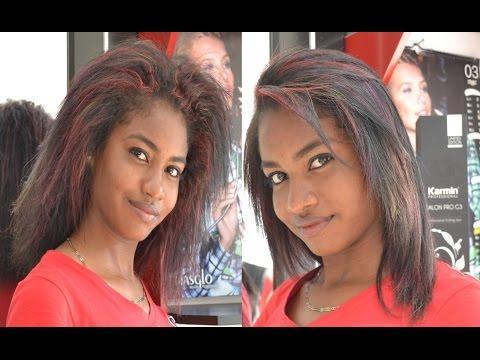 Tratamiento para cabello afro alisado