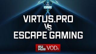 Virtus.pro vs Escape, ESL One Genting Quals, game 2 [Mila]