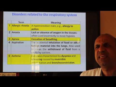 Medical Terminology. Lecture Five. The respiratory and integumentary systems. By Dr. Dheyaa Jabbar