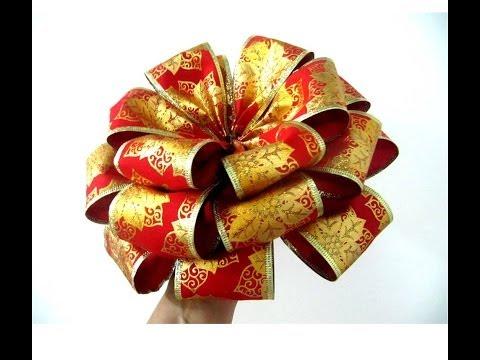 Mo os flores navide as de tres capas en cintas for Monos navidenos