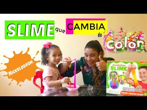 SLIME Nickelodeon COLOR Change  💦 /Kit SLIME Que Cambia De COLOR Nickelodeon!