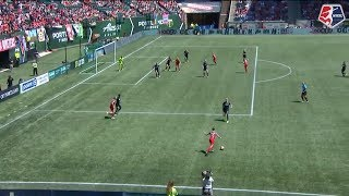 Portland Thorns FC forward Hayley Raso scored the game's only goal as Portland topped the North Carolina Courage 1-0 in Week 13. Thorns goalkeeper Adrianna Franch earned her seventh shutout of the season in the win. July 15, 2017.