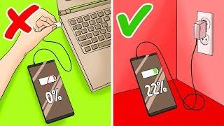 12 Erros que Você Comete ao Carregar seu Telefone