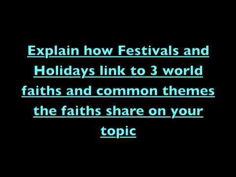 Festivals and Holidays from different religions (C)