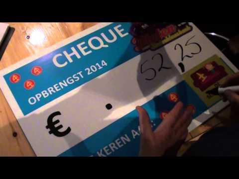 Ruim 9400 euro voor Sinterklaasbank