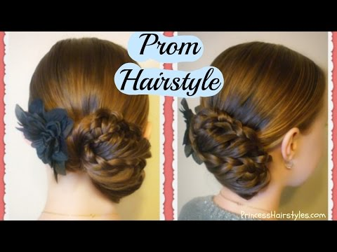 Prom Hairstyles, Triple Lace Braid Updo