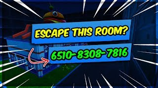 How To ESCAPE This Room? (Fortnite Creative Puzzle Map)