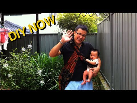 How to Carry a Baby Using a Sarong – DIY Now