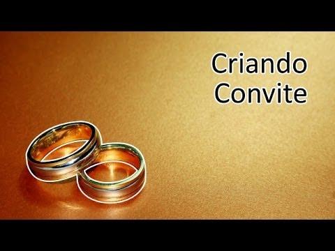 Criando Convite de Casamento Tradicional