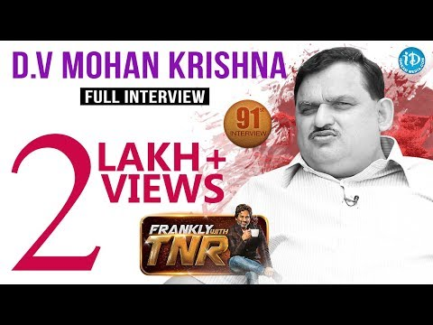 D.E Mohan Krishna Full Interview | Frankly With TNR #91  Talking Movies With iDream #621