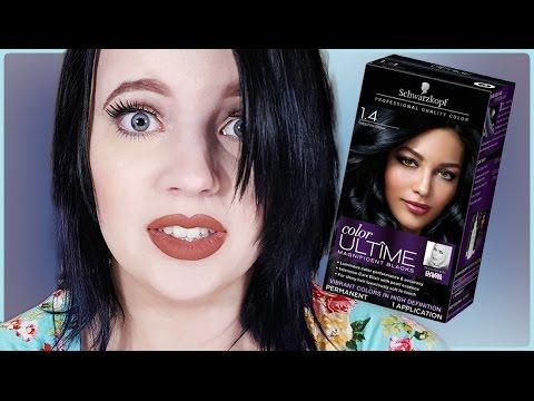 Schwartzkopf Sapphire Black Hair Dye Demo + Review