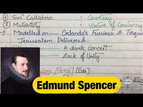 Edmund Spenser Notes for Net and Set Exams