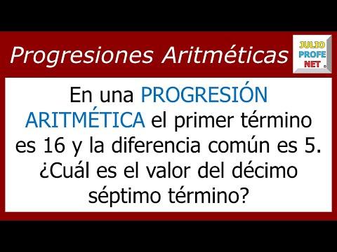Encontrar un Término en una Progresión aritmetica