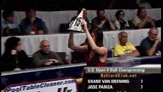 Pro Championship 9-Ball Action: Shane Van Boening Vs. Jose Parica  GREAT ENDING