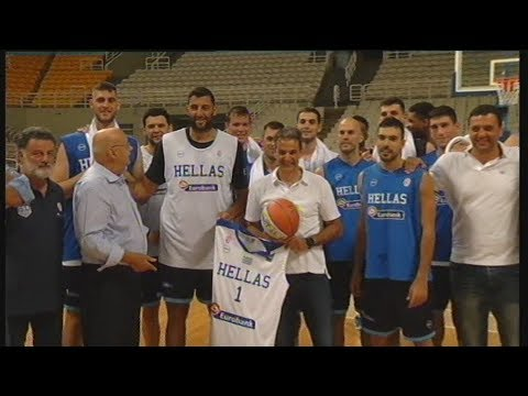 Ευχές Μητσοτάκη στην εθνική ομάδα μπάσκετ ανδρών