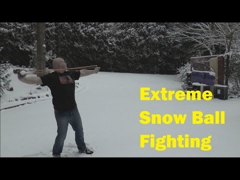 Shooting Snowballs With the Slingshot