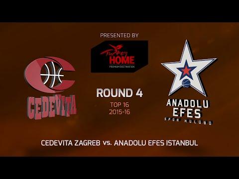 Highlights: Top 16, Round 4, Cedevita Zagreb 84-80 Anadolu Efes Istanbul