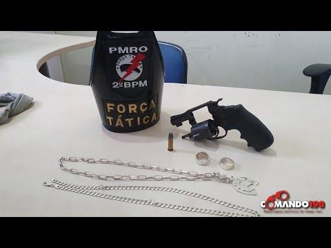 Polícia Militar apreende arma de fogo roubada que estava sendo comercializada, em Ji-Paraná