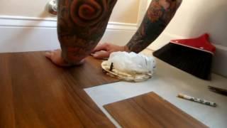 Vinyl Plank Bathroom Install