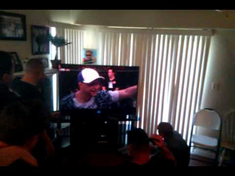 Frankie Edgars friends celebrate his win over BJ Penn at UFC 112