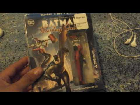 Batman  and  harley  quinn  blu  ray  deluxe edition  unboxing
