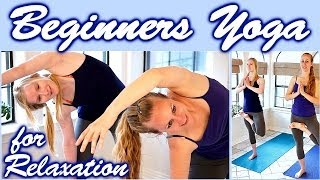 Yoga For Complete Beginners: Relaxation & Flexibility Stretches for Sleep, Anxiety & Pain Relief - YouTube