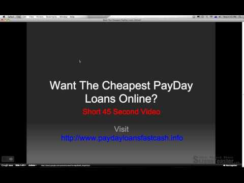 Cheapest PayDay Loans Instant Approval No Faxing