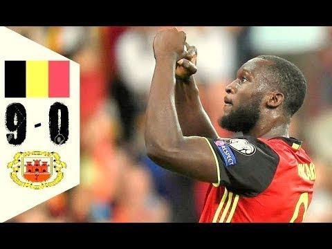 Belgium vs Gibraltar 9-0 All Goals & Highlights - WC Qualifiers 01/09/2017