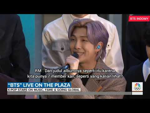 (INDO SUB) 210220 BTS Map Of The Soul : 7 Interview With Today Show