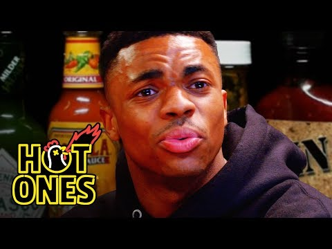 Vince Staples Delivers Hot Takes While Eating Spicy Wings   Hot Ones