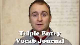 """Video #24 - Triple Entry Vocabulary JournalTriple Entry Vocabulary Journal has students learn vocabulary in context, has them create defintions in their own words and finishes with requiring a personal way for a student to remember the definition. This strategy of vocabulary acquisition is more effective than the traditional """"Assign/Define/Test"""".Further reading: http://www.msad54.org/district/literacyspecialist/pdf/triplevoc.pdfConnect with TeachLikeThis via twitter @teachlikethis, facebook.com/teachlikethis pinterest.com/teachlikethis and teachlikethis@gmail.com"""