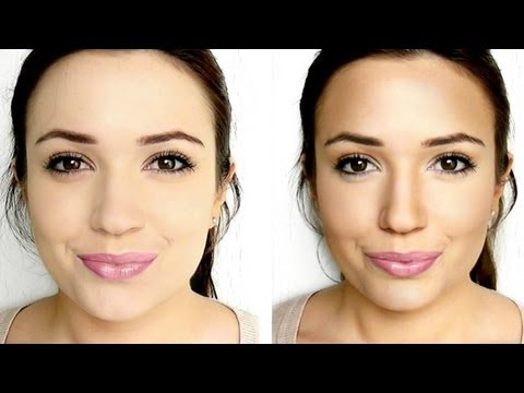 highlight - How to contour and Highlight your face - All Face Shape Brushes Used: F15 Highlight: http://www.blankcanvascosmetics.com/products/f15-small-tapered-black-bri...